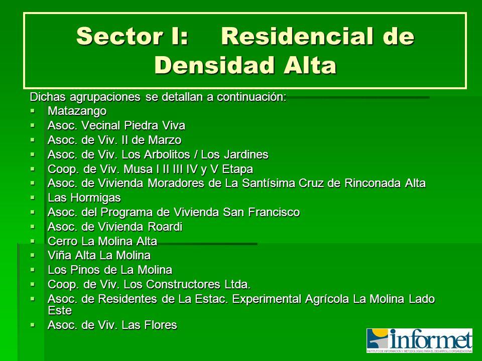 Sector I: Residencial de Densidad Alta