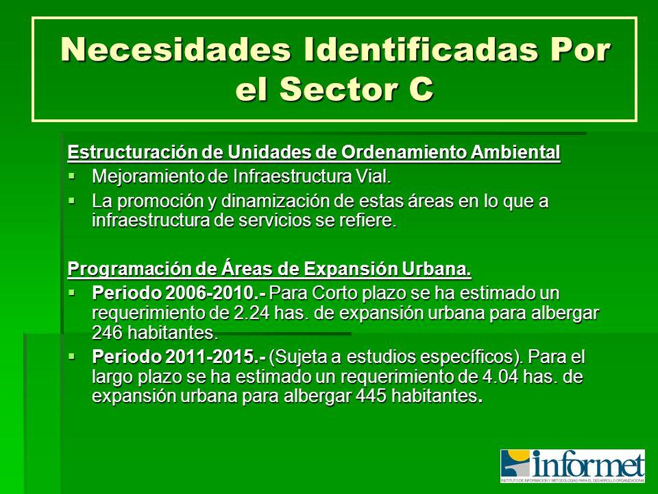 Necesidades Identificadas Por el Sector C