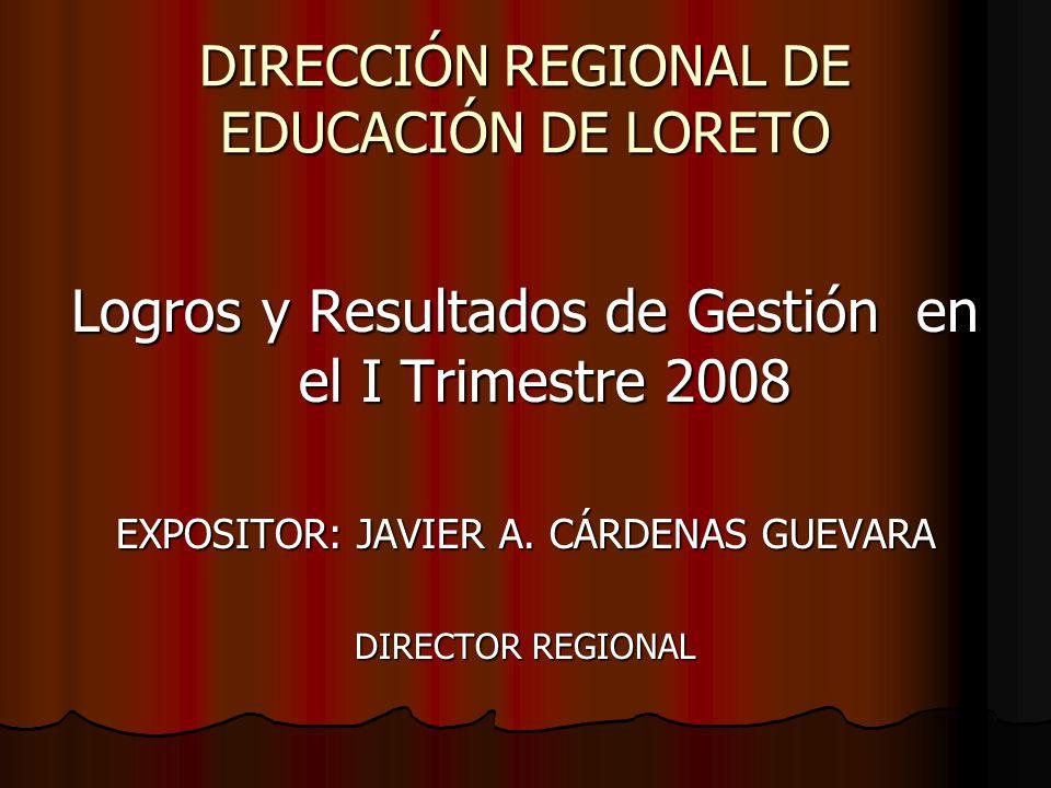 DIRECCIÓN REGIONAL DE EDUCACIÓN DE LORETO