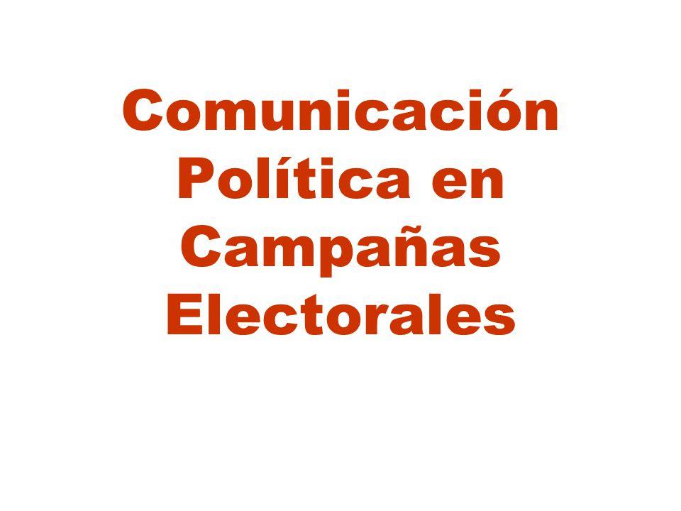 Comunicación Política en Campañas Electorales