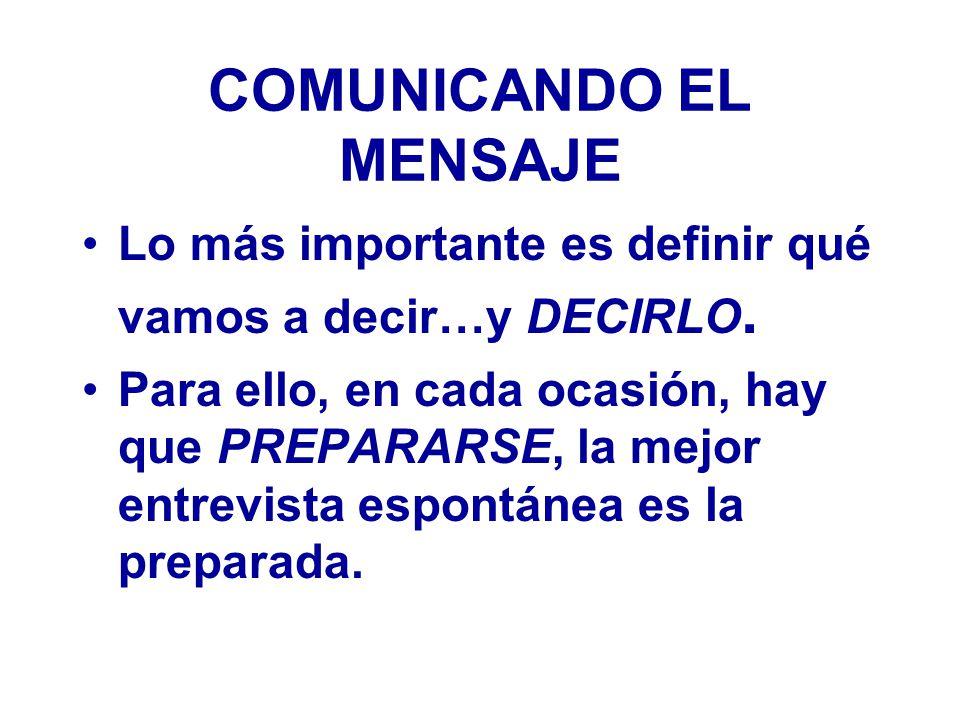COMUNICANDO EL MENSAJE