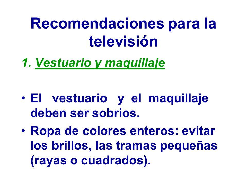 Recomendaciones para la televisión