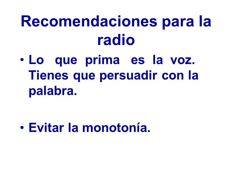Recomendaciones para la radio