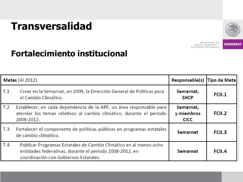 Transversalidad Fortalecimiento institucional 49