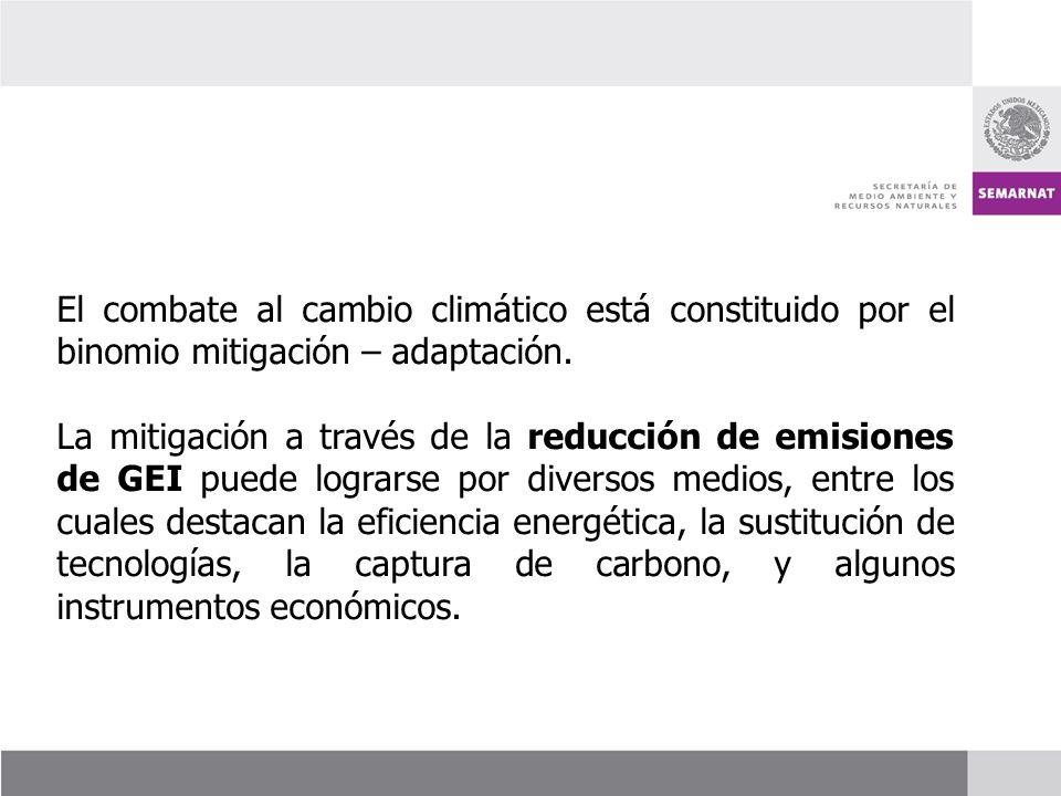 El combate al cambio climático está constituido por el binomio mitigación – adaptación.