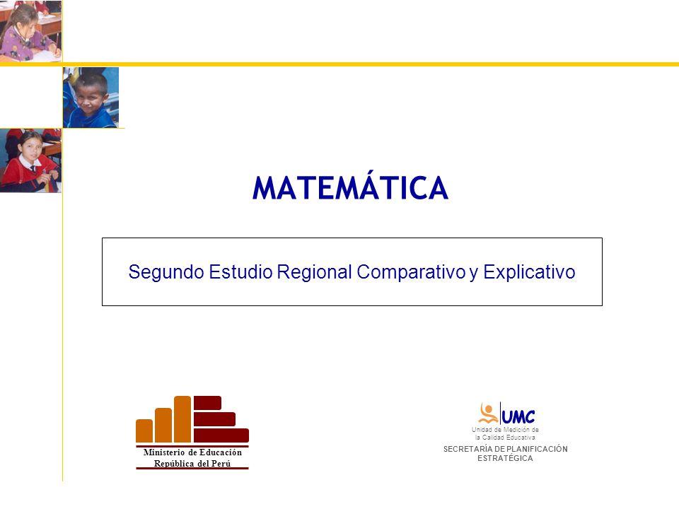 Segundo Estudio Regional Comparativo y Explicativo