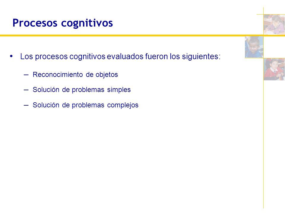 Procesos cognitivos Los procesos cognitivos evaluados fueron los siguientes: Reconocimiento de objetos.