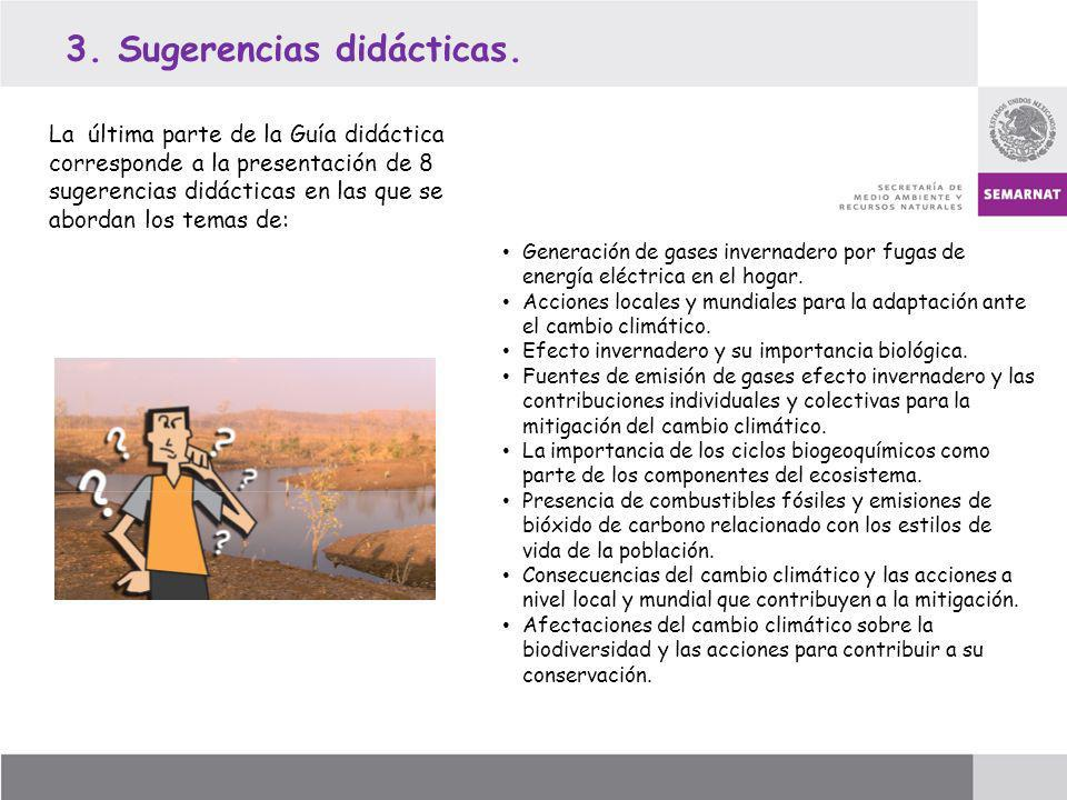 3. Sugerencias didácticas.