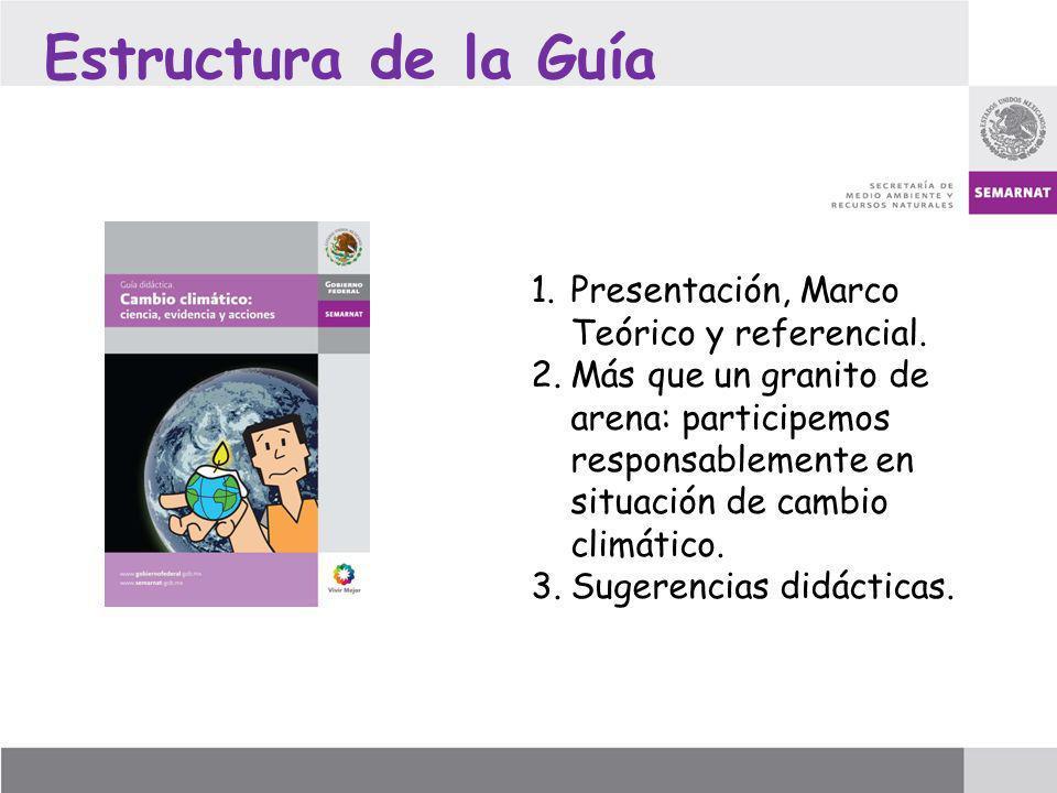 Estructura de la Guía Presentación, Marco Teórico y referencial.