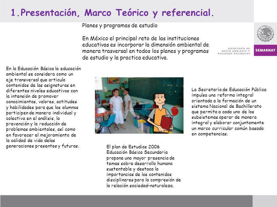 Presentación, Marco Teórico y referencial.