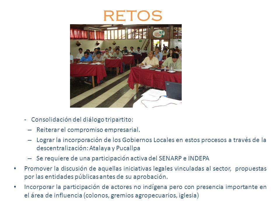 RETOS - Consolidación del diálogo tripartito: