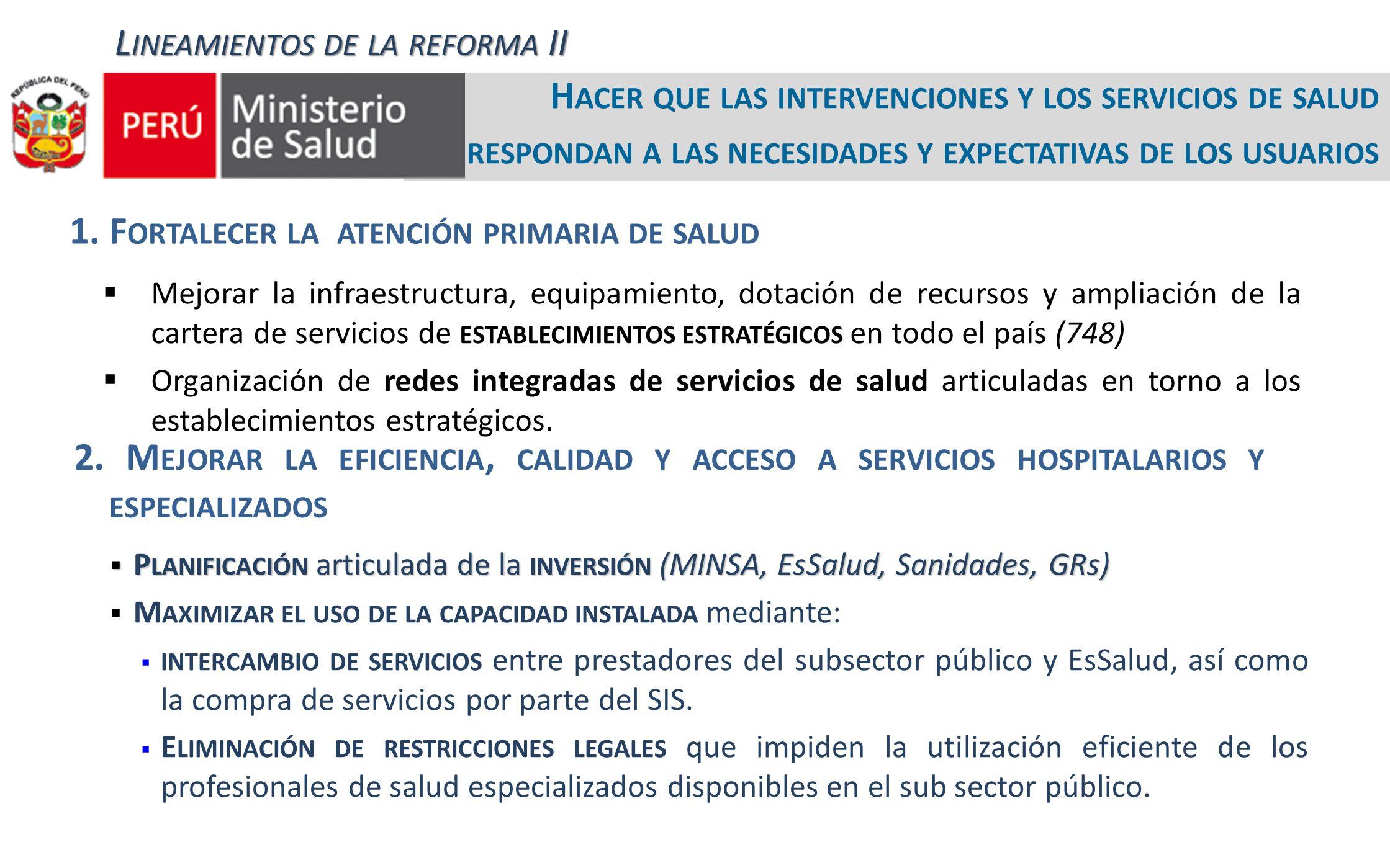 Lineamientos de la reforma II