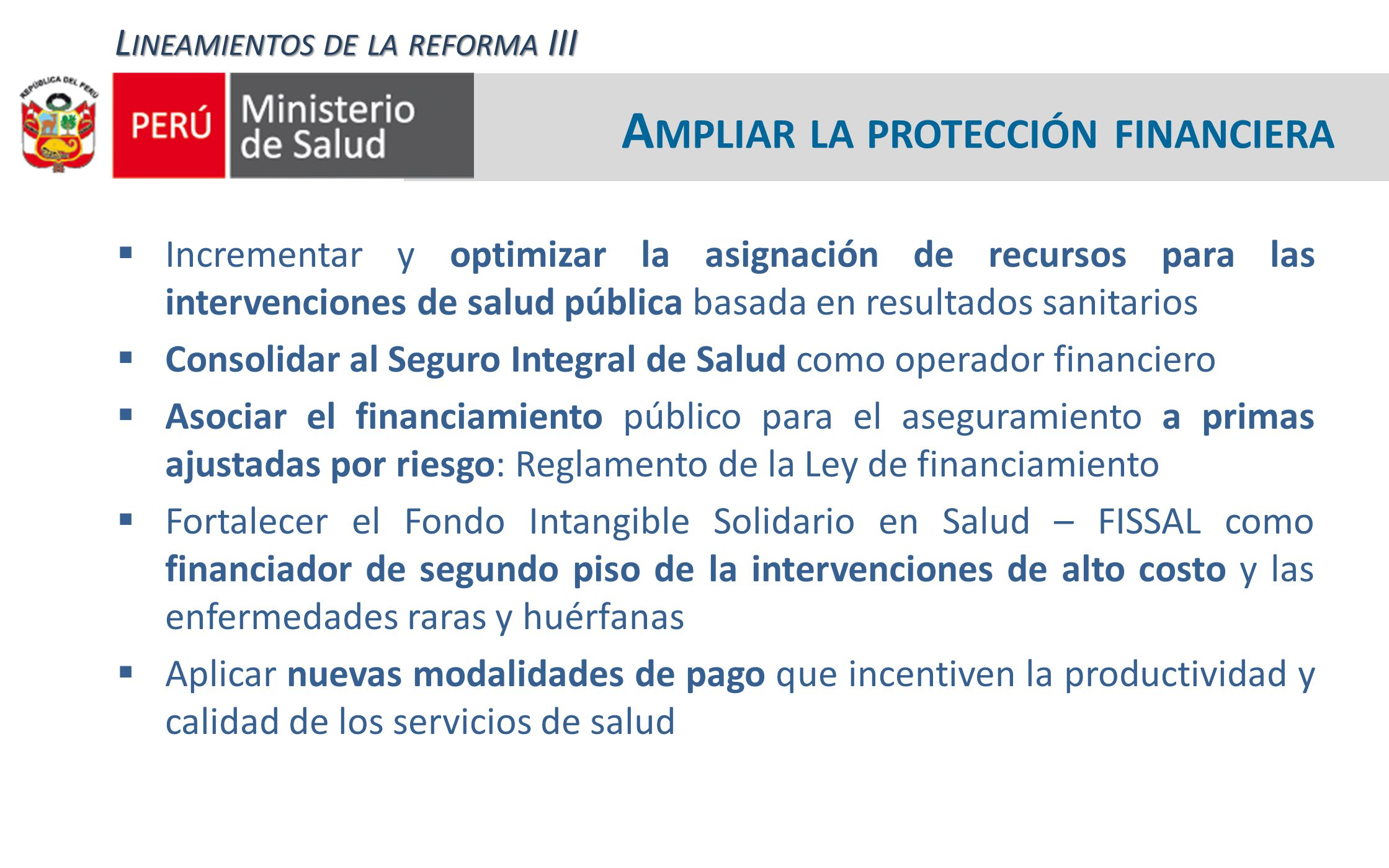 Ampliar la protección financiera