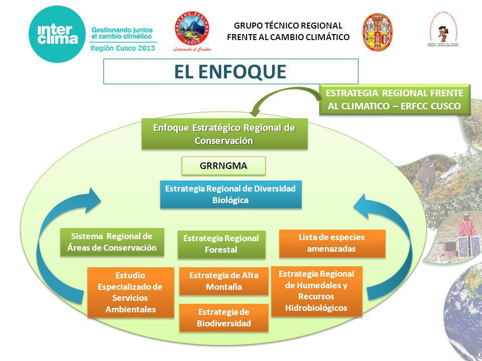 EL ENFOQUE ESTRATEGIA REGIONAL FRENTE AL CLIMATICO – ERFCC CUSCO