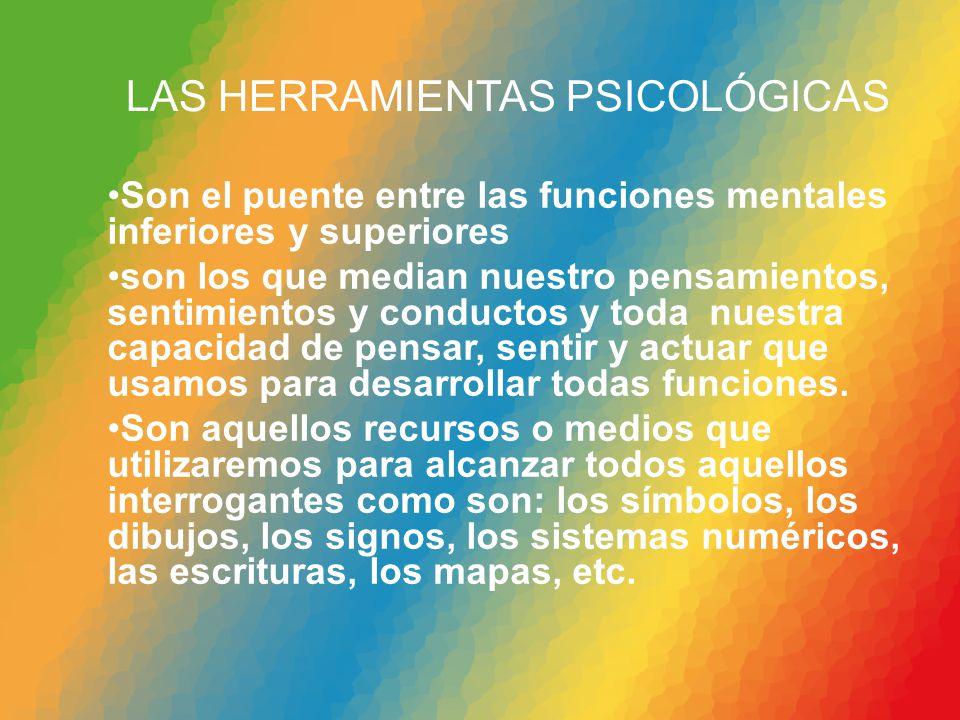LAS HERRAMIENTAS PSICOLÓGICAS