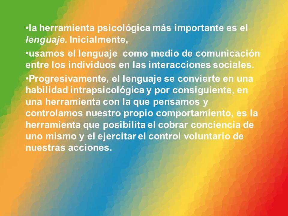 la herramienta psicológica más importante es el lenguaje. Inicialmente,