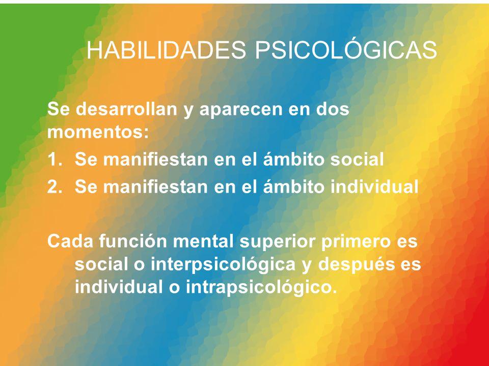 HABILIDADES PSICOLÓGICAS