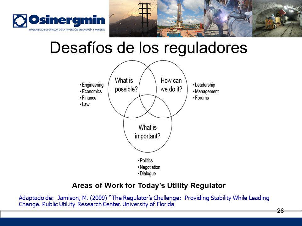 Desafíos de los reguladores