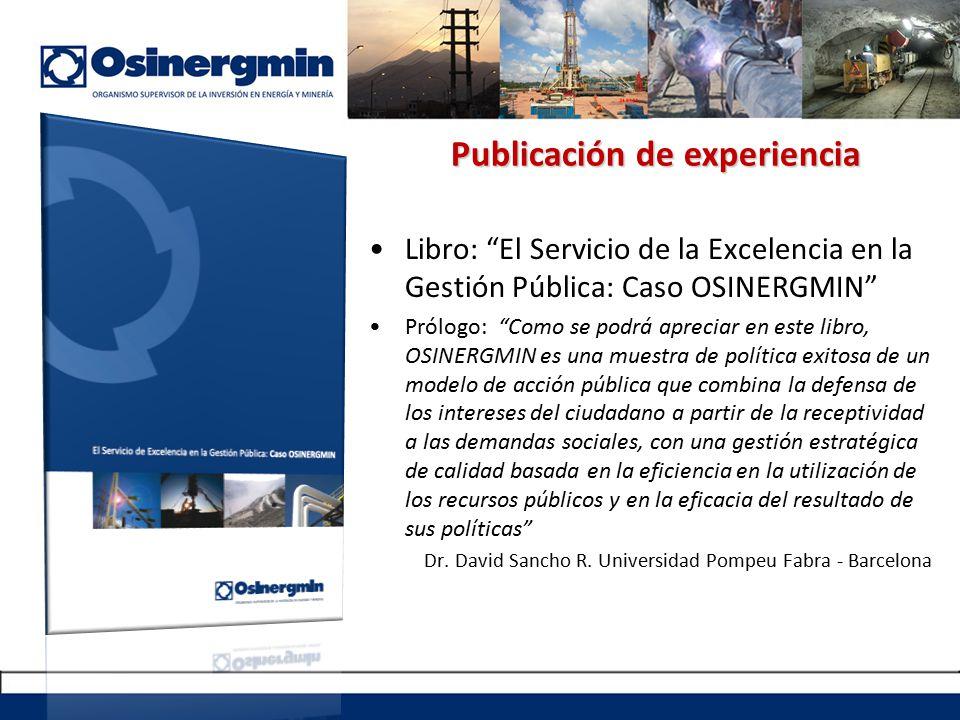 Publicación de experiencia