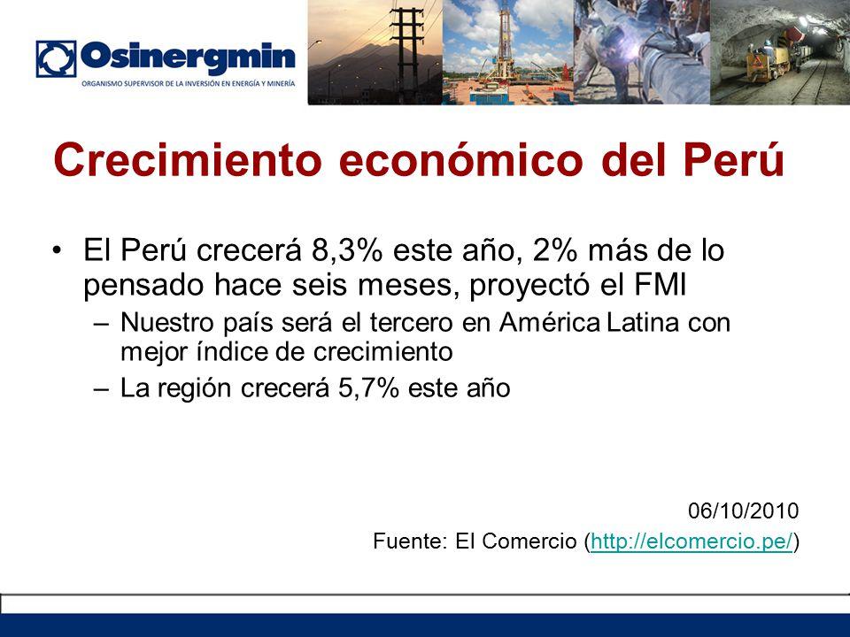 Crecimiento económico del Perú