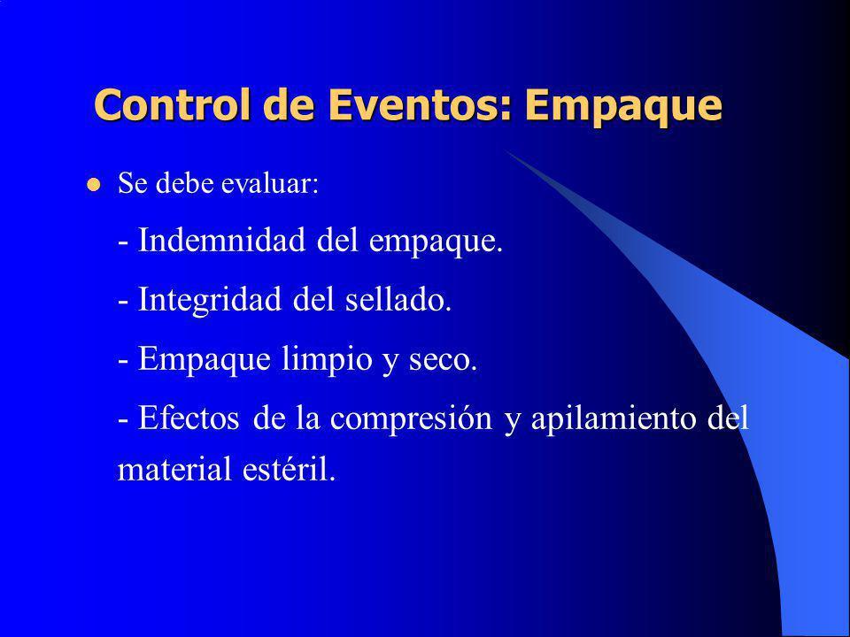 Control de Eventos: Empaque