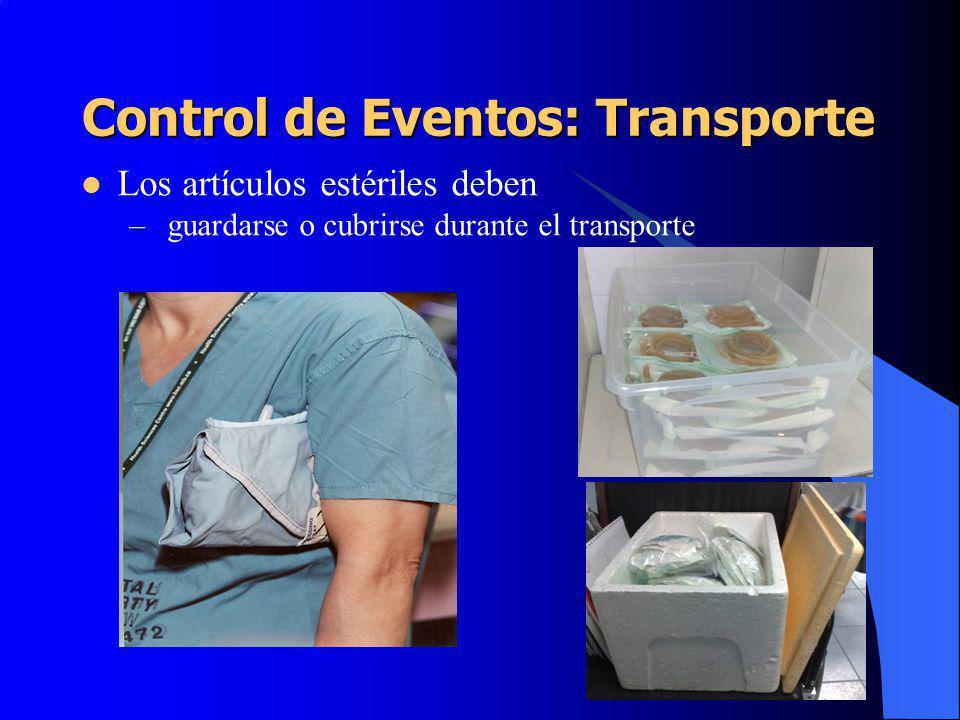 Control de Eventos: Transporte