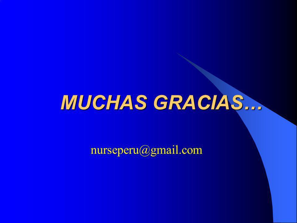 MUCHAS GRACIAS… nurseperu@gmail.com