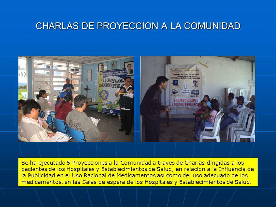CHARLAS DE PROYECCION A LA COMUNIDAD