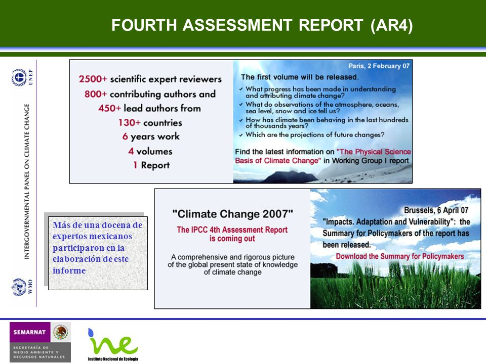 FOURTH ASSESSMENT REPORT (AR4)