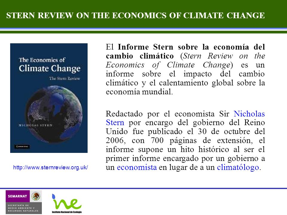 STERN REVIEW ON THE ECONOMICS OF CLIMATE CHANGE