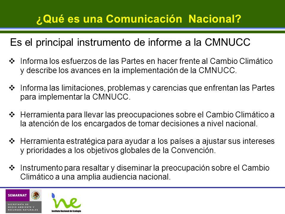 ¿Qué es una Comunicación Nacional