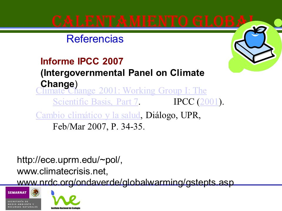 Calentamiento Global Referencias