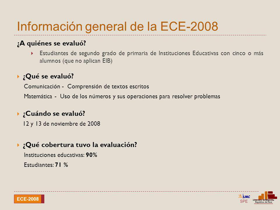 Información general de la ECE-2008