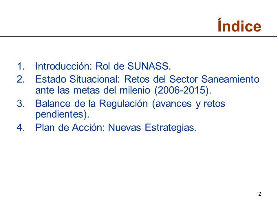Índice Introducción: Rol de SUNASS.