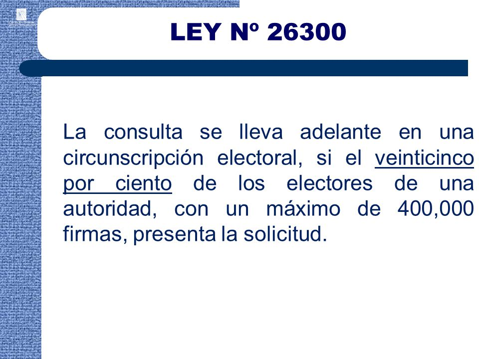 LEY Nº 26300
