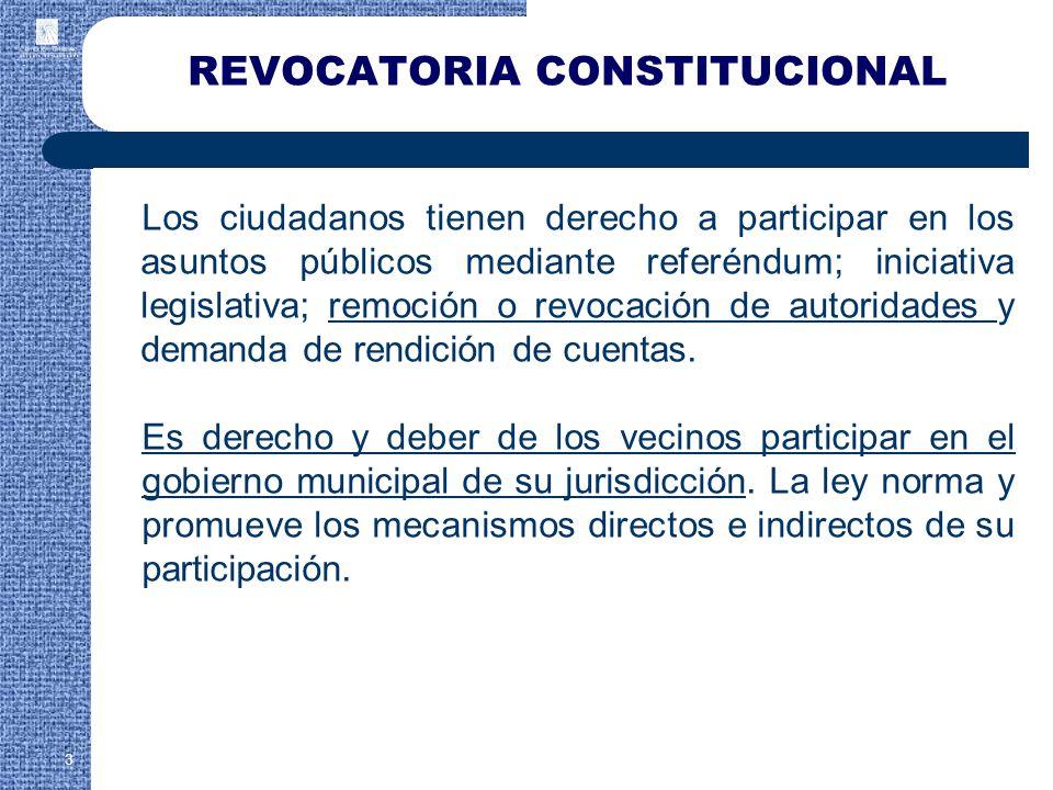 REVOCATORIA CONSTITUCIONAL