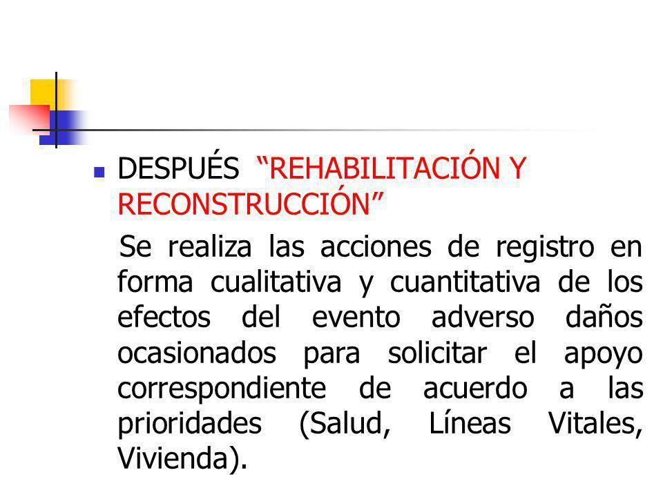 DESPUÉS REHABILITACIÓN Y RECONSTRUCCIÓN