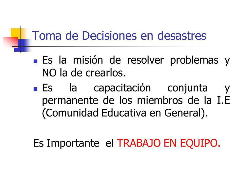 Toma de Decisiones en desastres