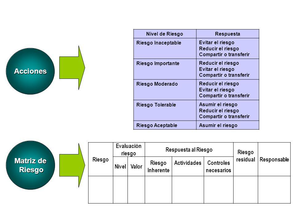 Acciones Matriz de Riesgo