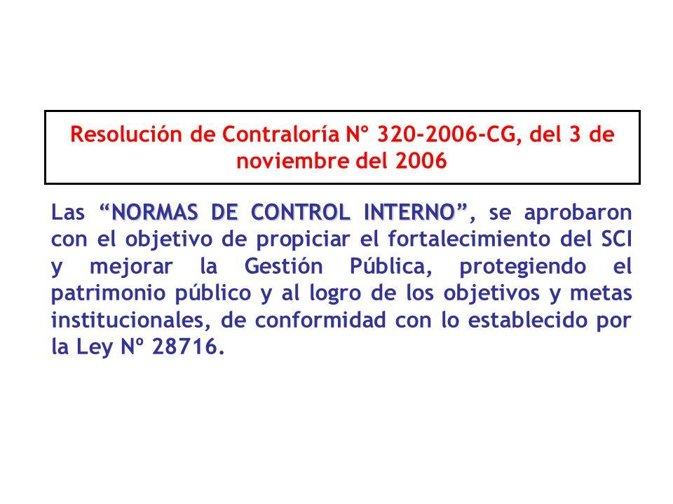 Resolución de Contraloría N° 320-2006-CG, del 3 de noviembre del 2006