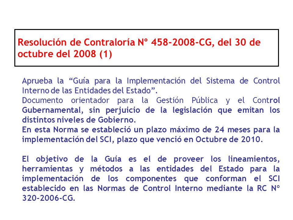 Resolución de Contraloría N° 458-2008-CG, del 30 de octubre del 2008 (1)