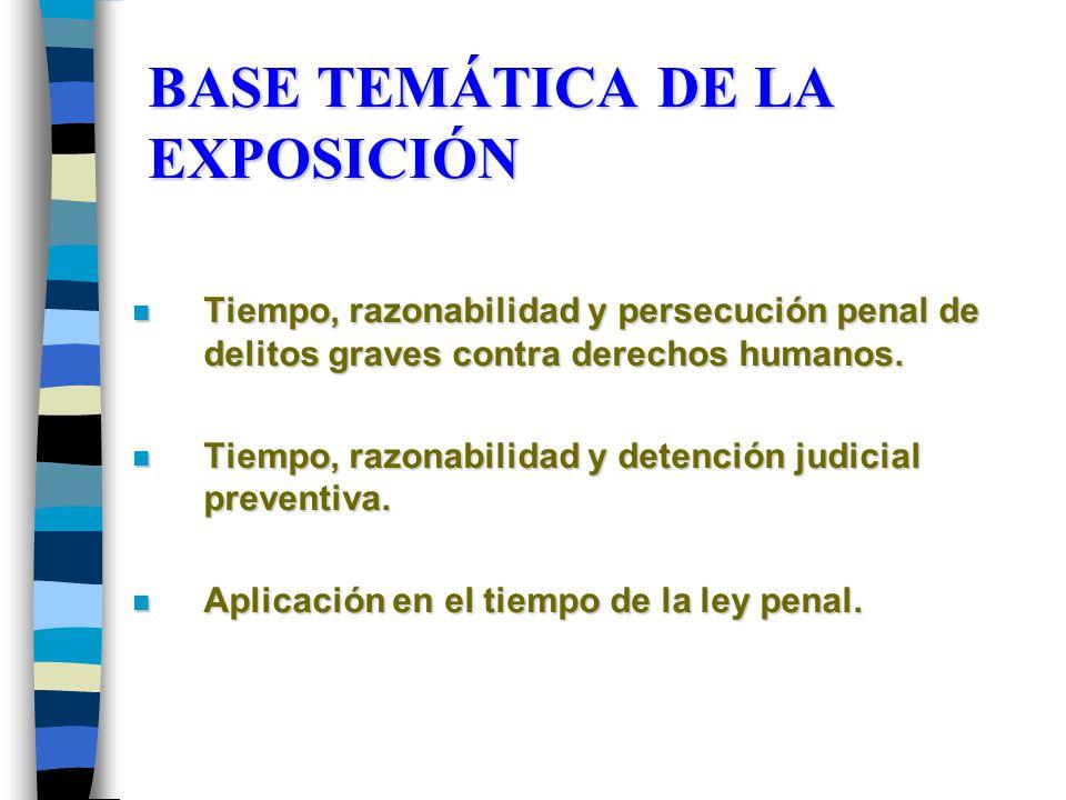 BASE TEMÁTICA DE LA EXPOSICIÓN