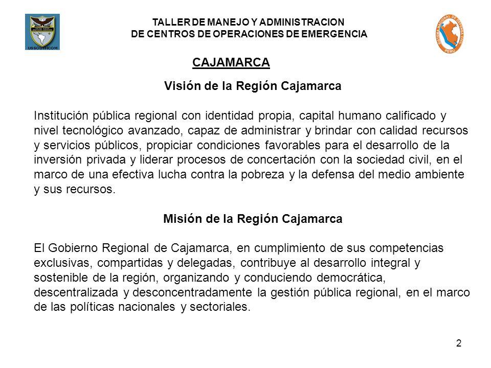 Visión de la Región Cajamarca