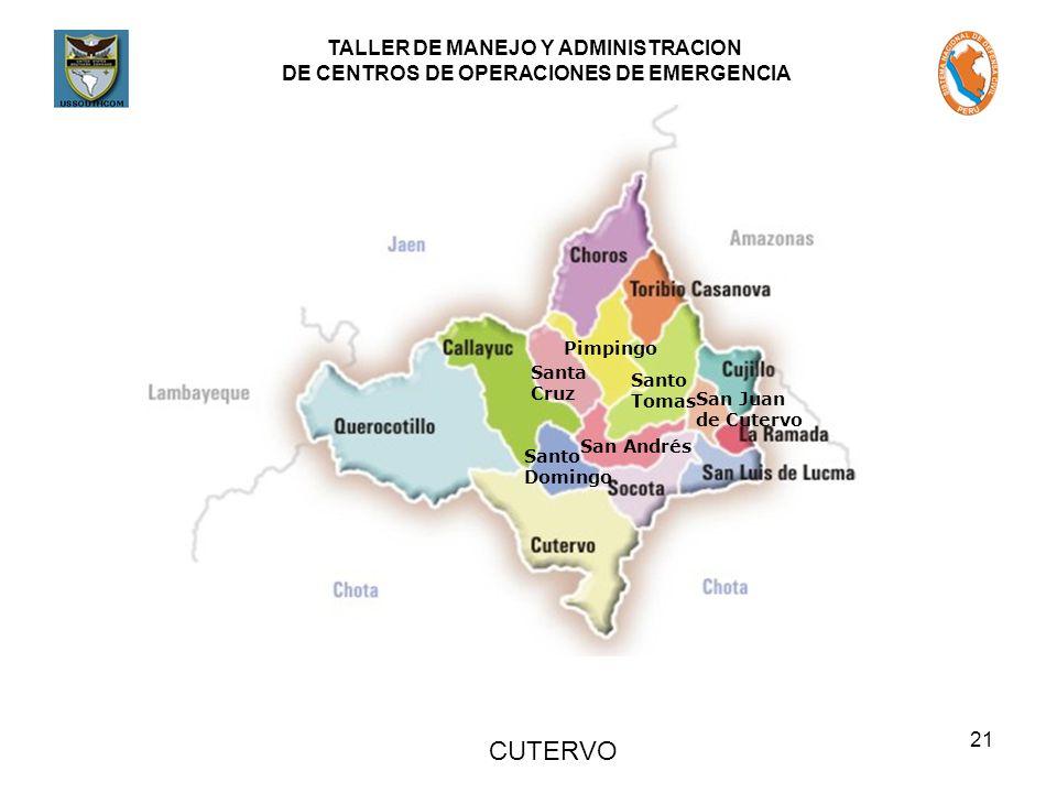 CUTERVO Pimpingo Santa Santo Cruz Tomas San Juan de Cutervo San Andrés