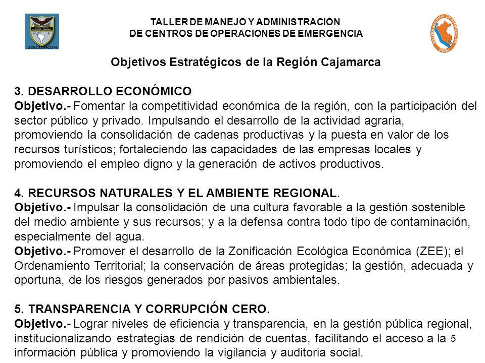 Objetivos Estratégicos de la Región Cajamarca