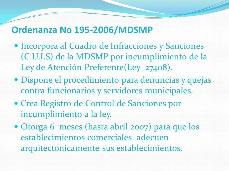 Ordenanza No 195-2006/MDSMP