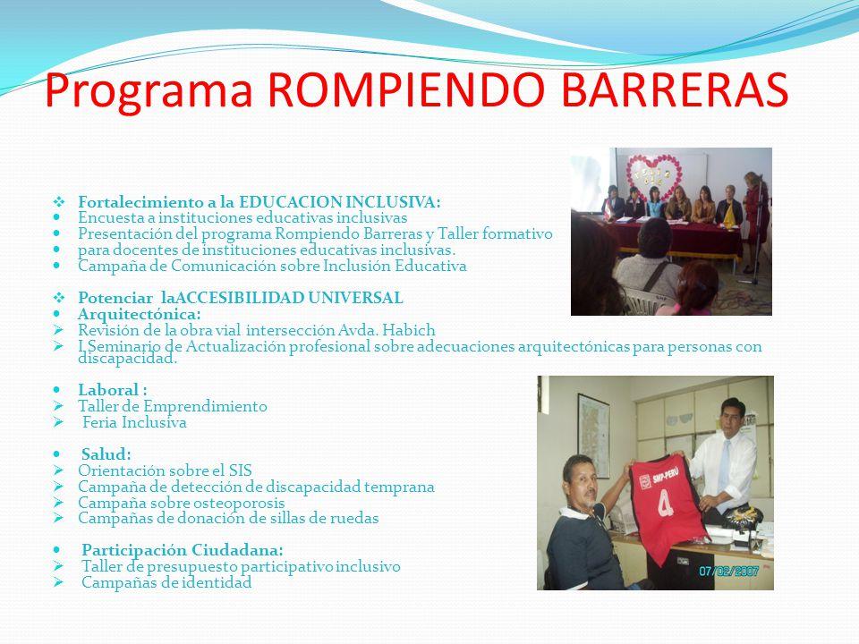 Programa ROMPIENDO BARRERAS