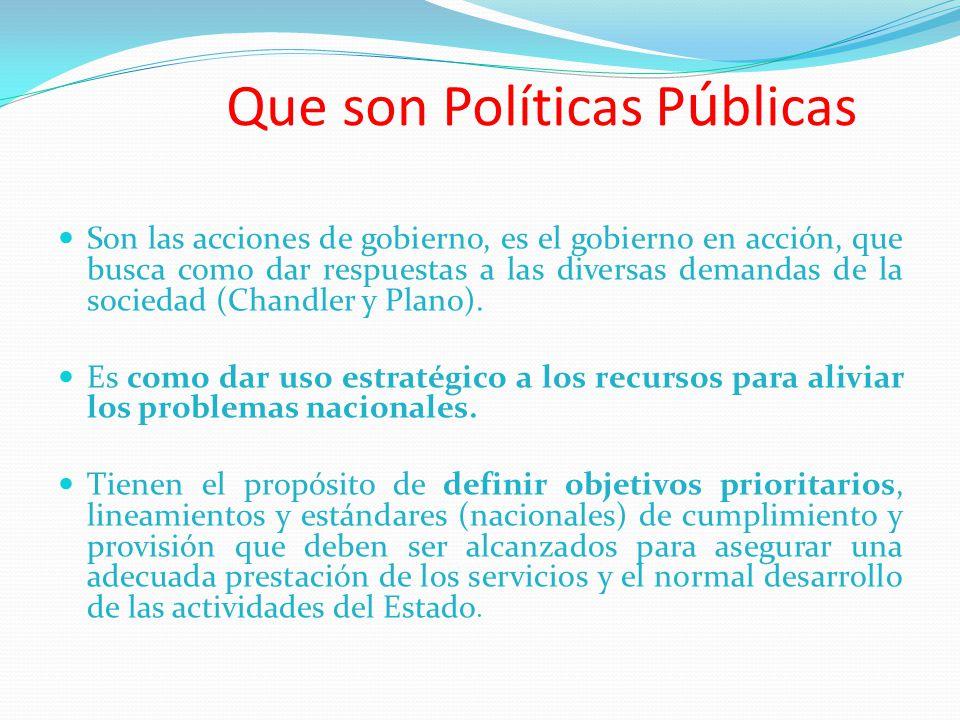 Que son Políticas Públicas