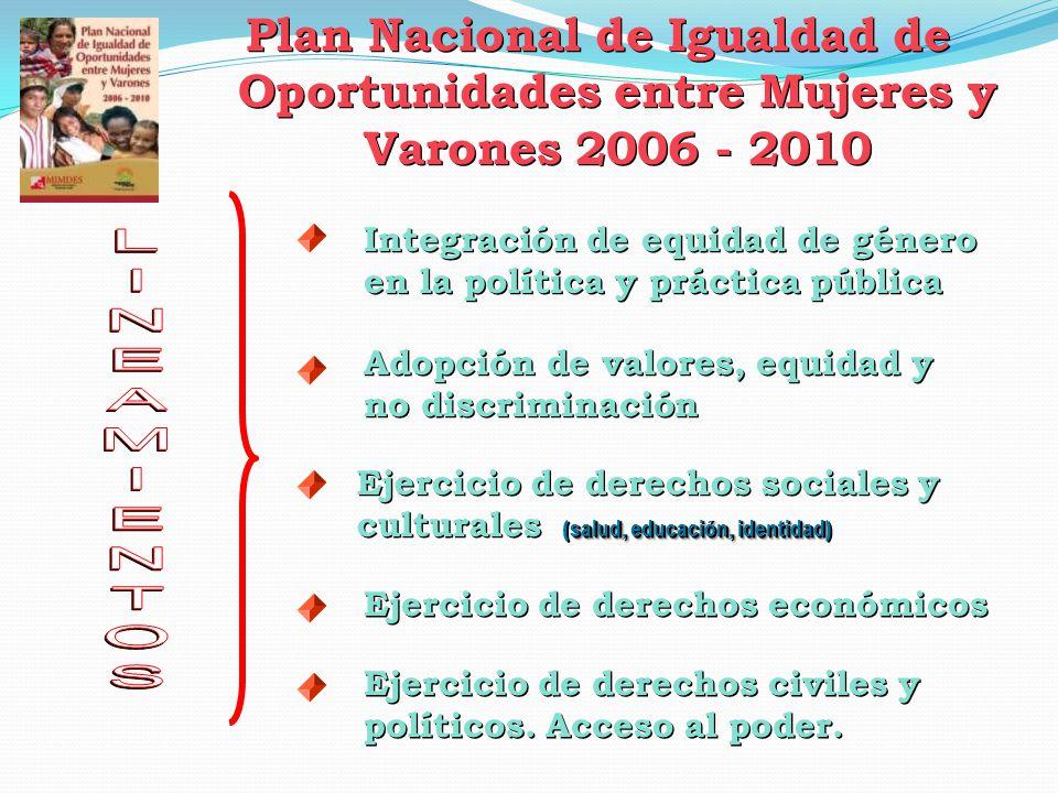 Plan Nacional de Igualdad de Oportunidades entre Mujeres y Varones 2006 - 2010