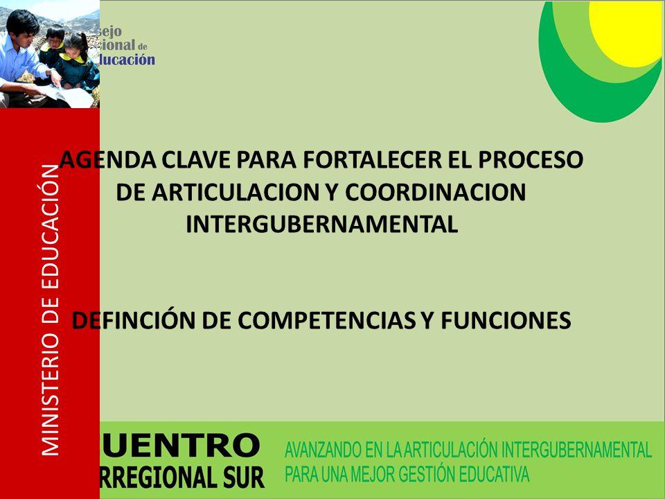 DEFINCIÓN DE COMPETENCIAS Y FUNCIONES